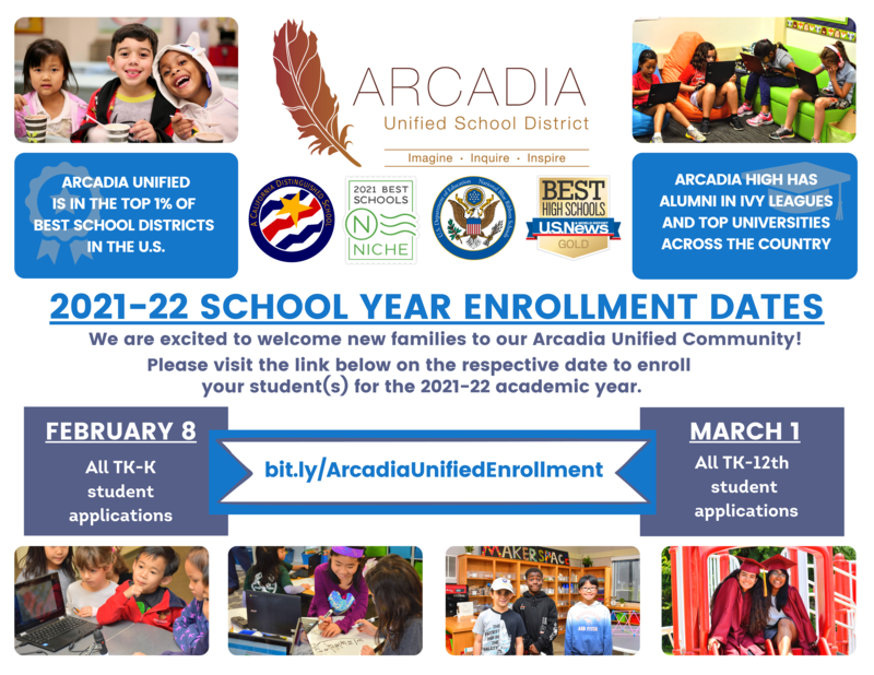 2021-22 AUSD New Student Enrollment Flyer