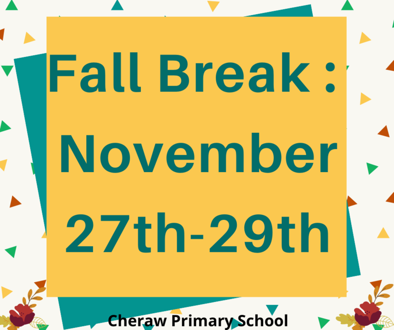 Fall Break: Wednesday, November 27th - Friday, November 29th Featured Photo