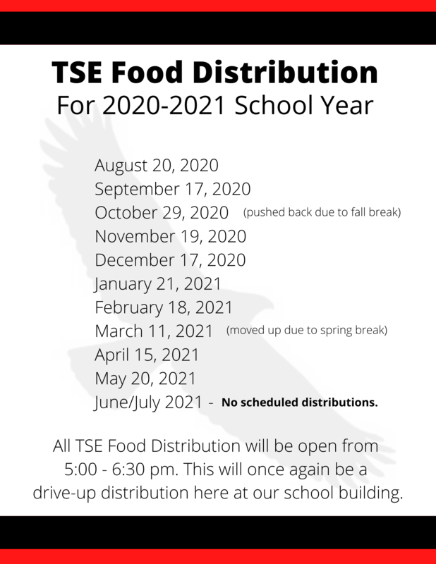TSE Food Distribution Dates (2020-2021) Thumbnail Image