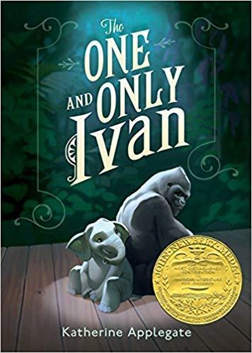 This is the cover of The One and Only Ivan.