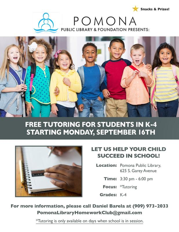 Free Tutoring for Students In K-4