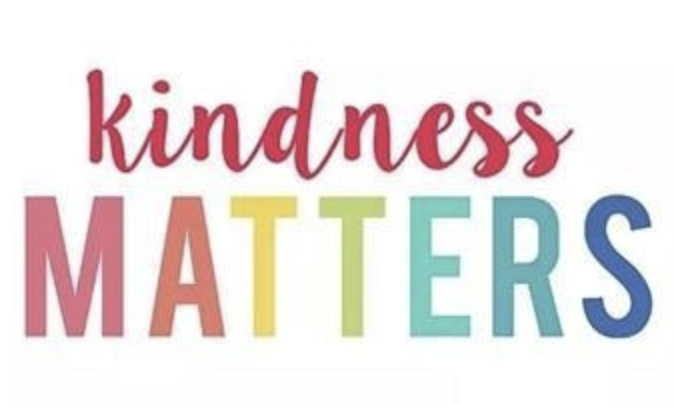 color letters that read kindness matters