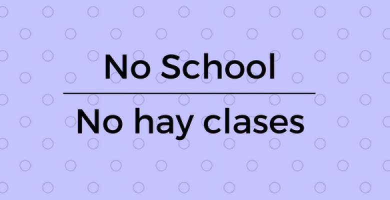 No School Banner