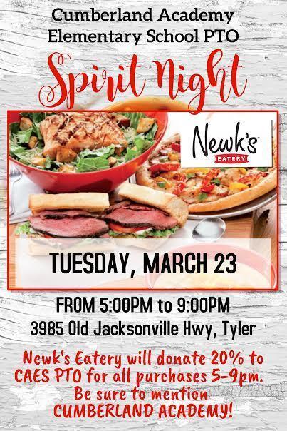 Newk's - Spirit Night Sponsored By CAES PTO Featured Photo