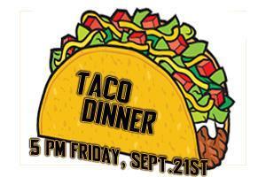 Taco dinner sept. 21s