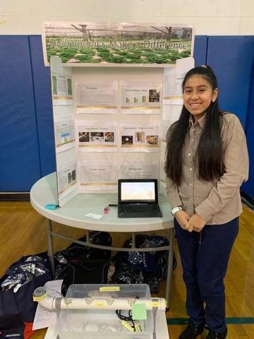 EMS girl who researched hydroponics makes a difference