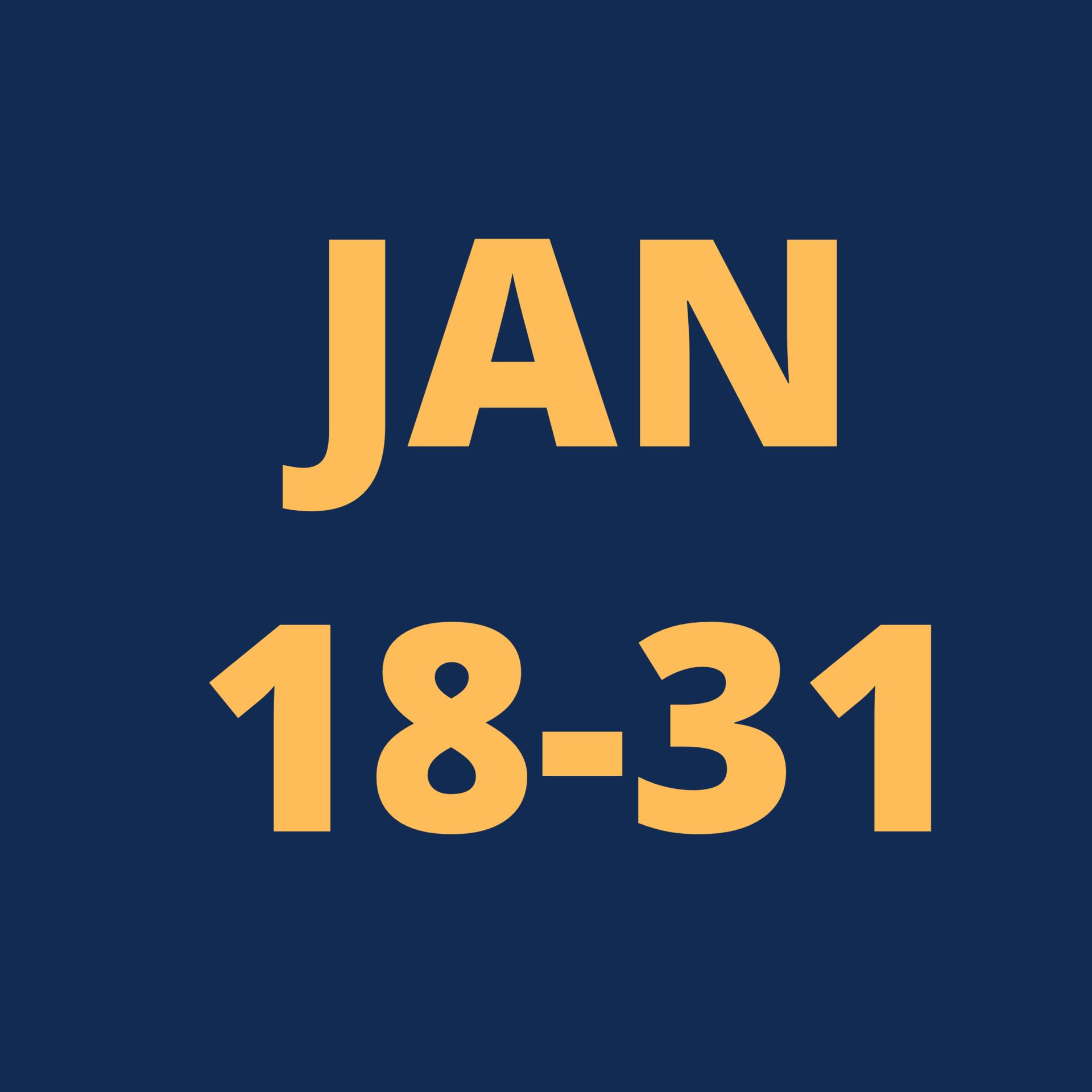 Jan 18-31 Icon