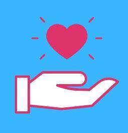 Amazon Smile hand & heart
