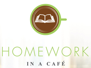 Homework in a cafe