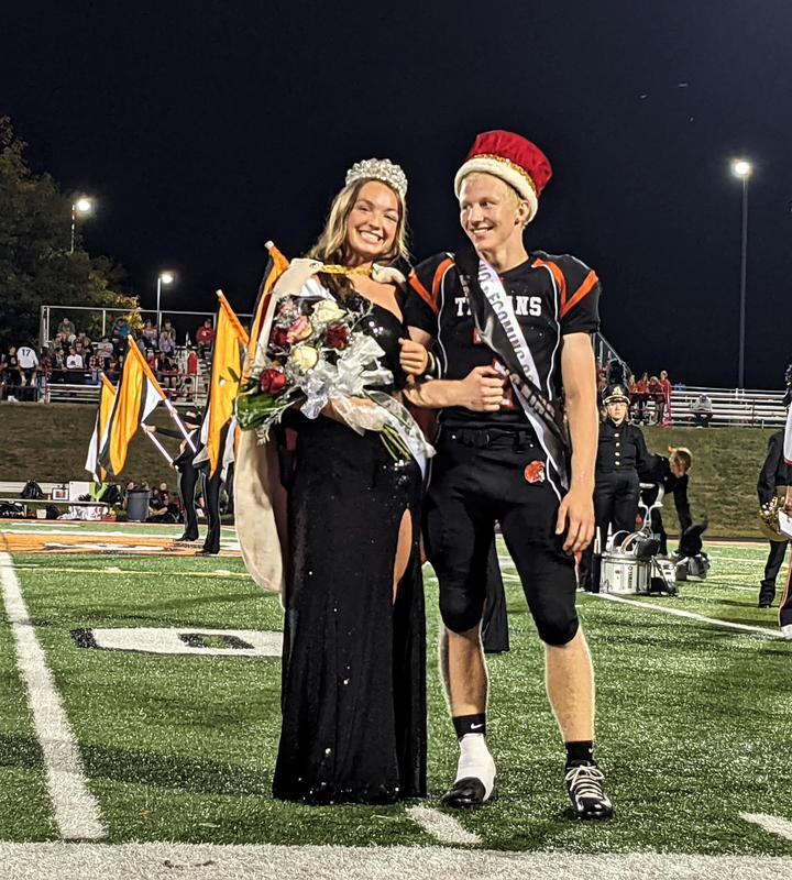 2021 Homecoming King and Queen - Anna Benedict and Matthew Middleton.