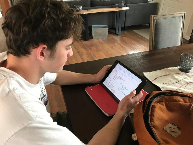 photo of boy studying