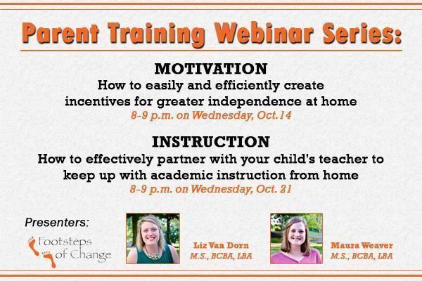 Join our Parent Training Webinar Series Thumbnail Image