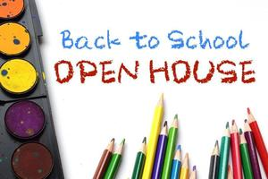 image that says Back to School Open House