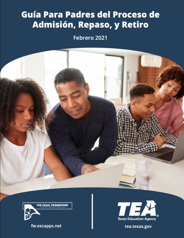 Papel Introductorio para la guía de padres del proceso de admisión, busca, y retiro