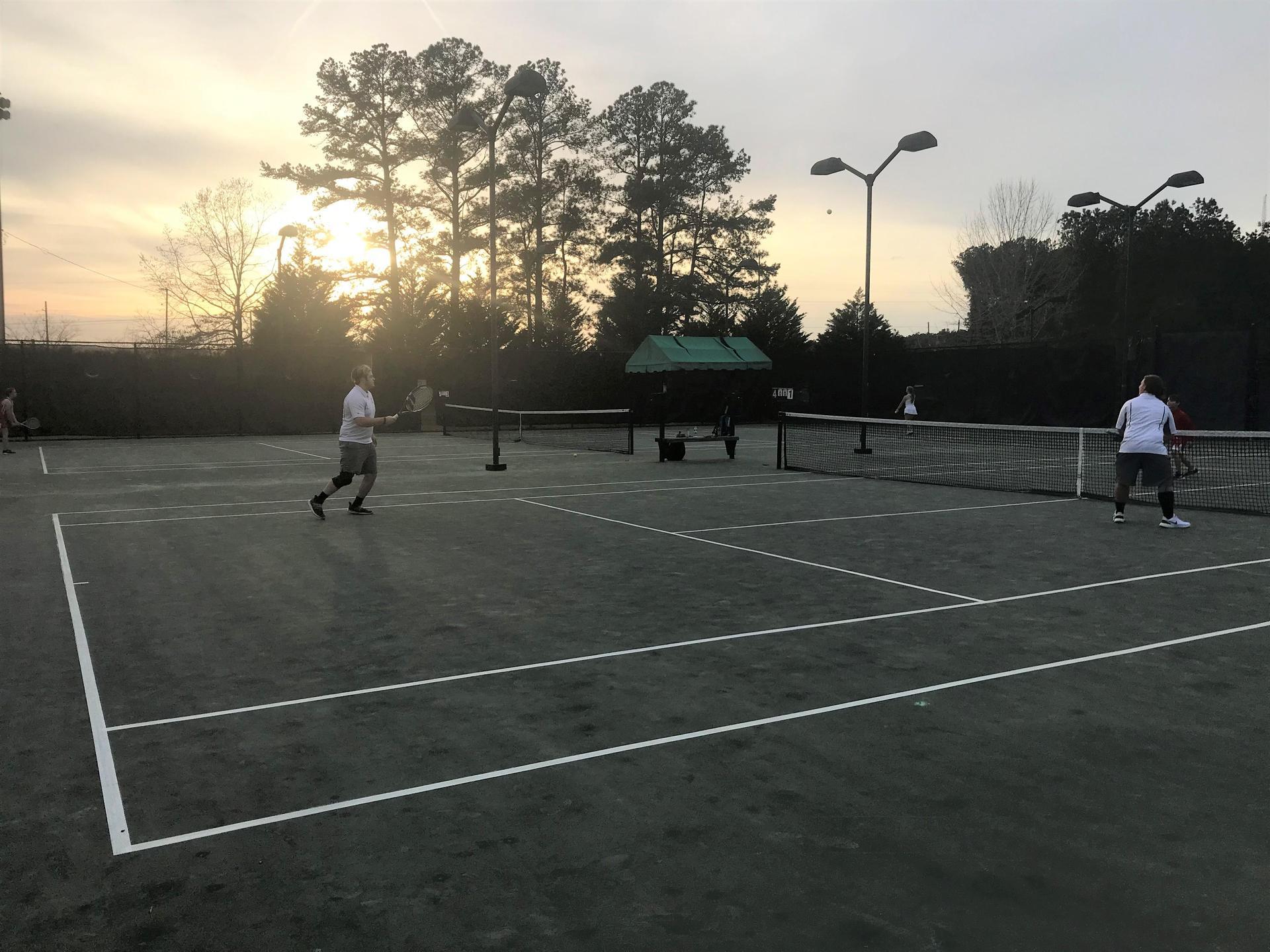CHS Boys Tennis Action