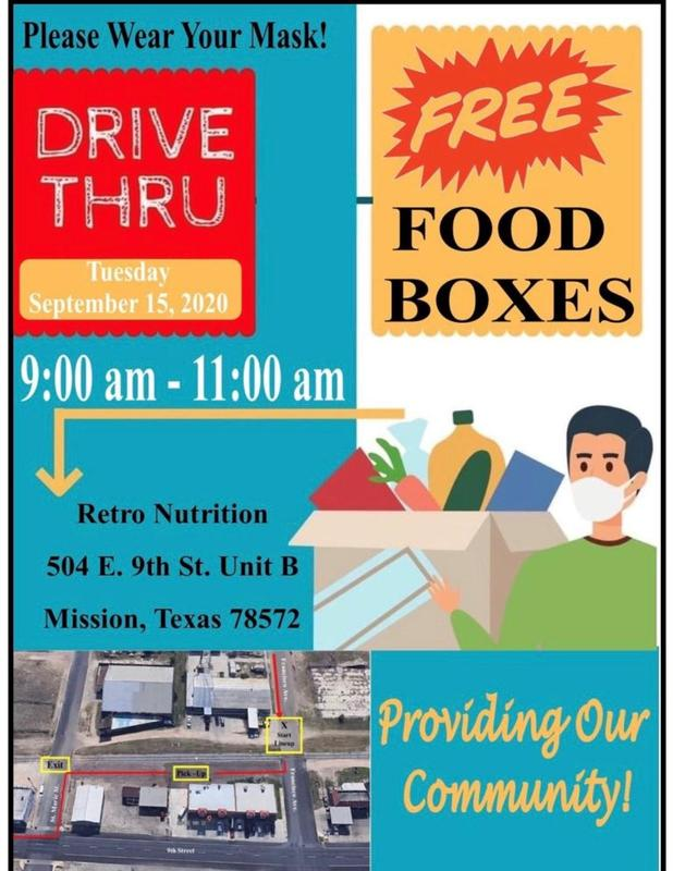 Free Food Boxes and COVID-19 Drive-Thru Testing Featured Photo
