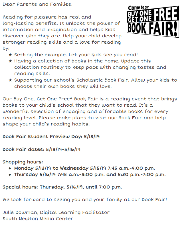 BOGO Book Fair Information