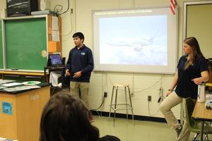 Engineering Students speak to class