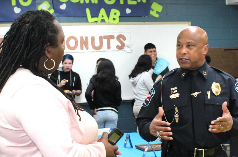 Natchez Freshman Academy host Coffee and Doughnuts with a Cop Thumbnail Image