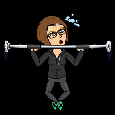 Bitmoji Emmerling lifting weights