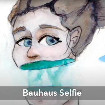 Bauhaus Selfie Graphic