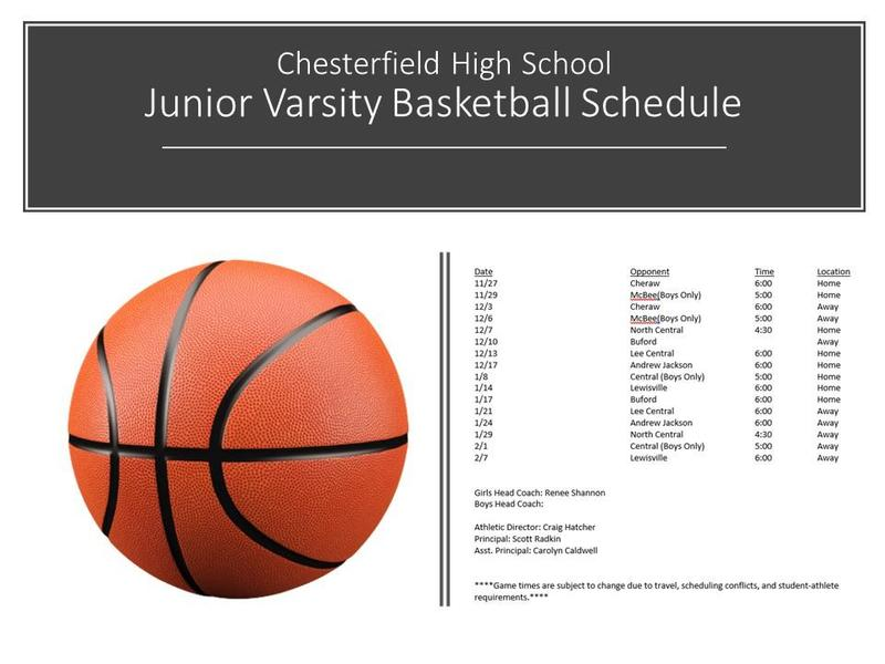 Junior Varsity Basketball Schedule Featured Photo