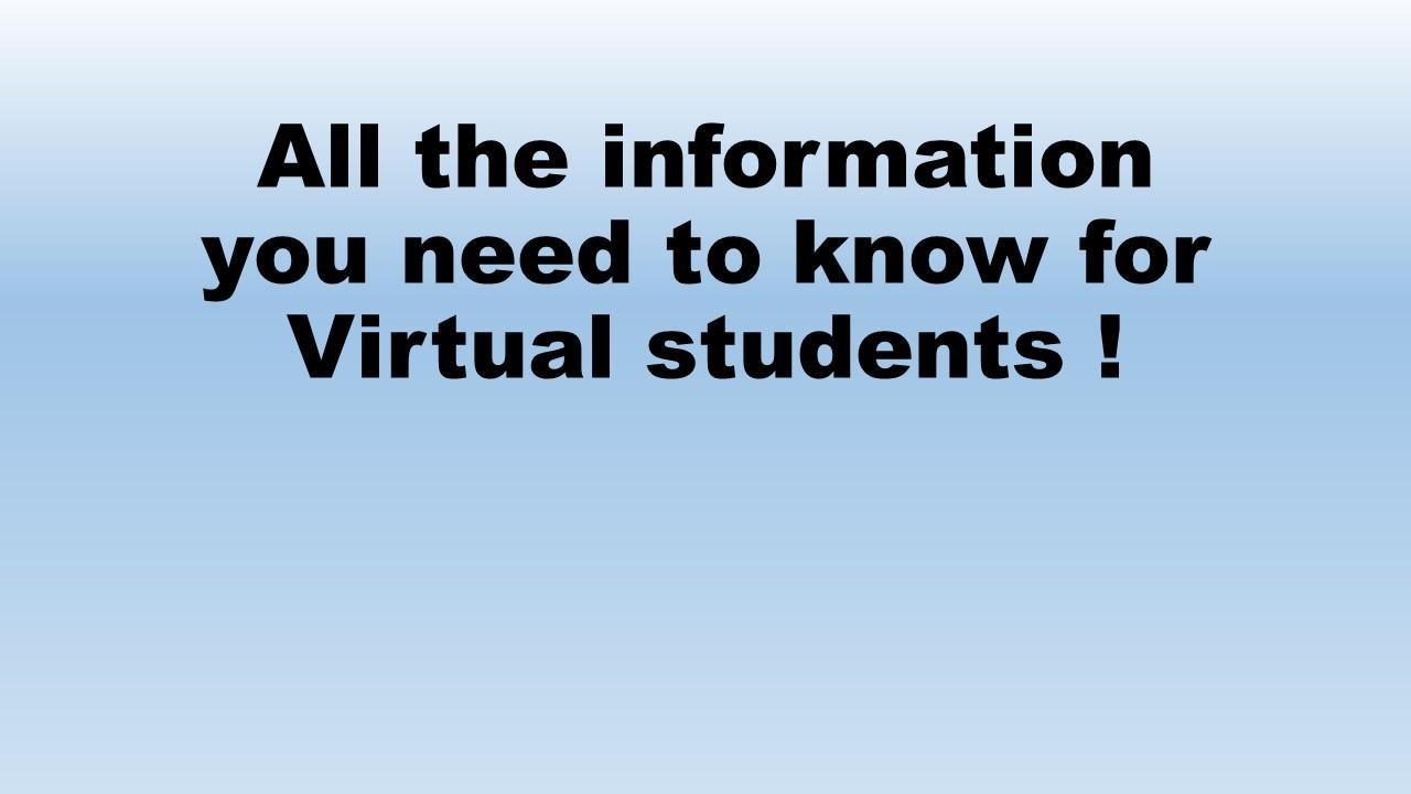 Virtual students