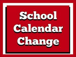 school calendar change