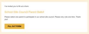 School Site Council Ballot