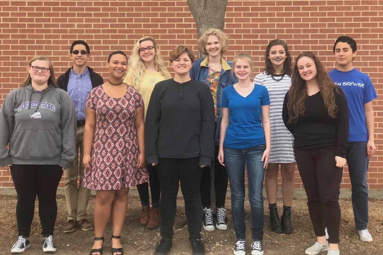 Nine Brewer High School choir students competed at the state competition, and three won!