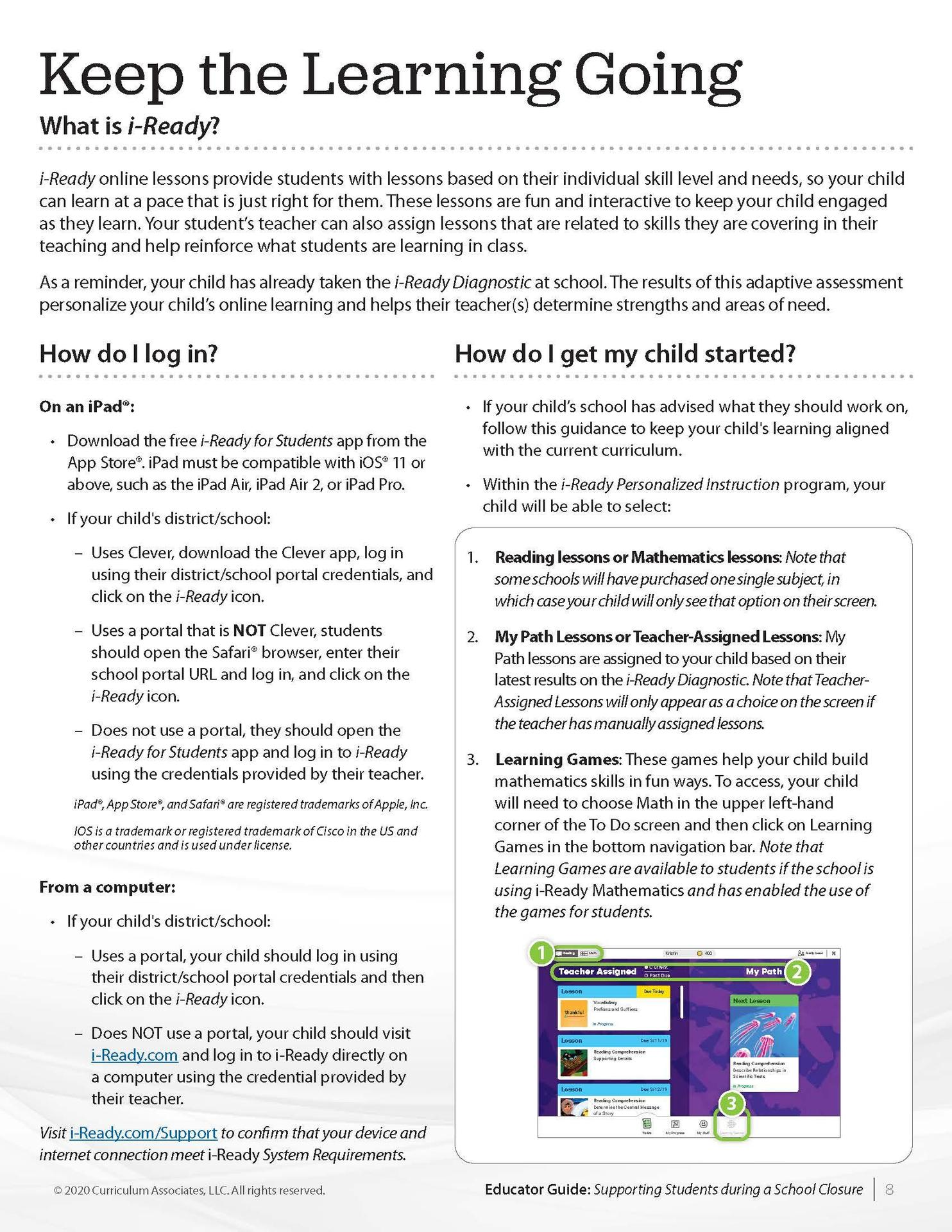 iReady Parent Guide