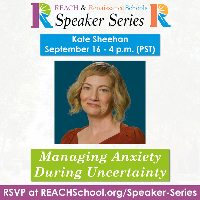 Kate Sheehan - September 16 - Managing Anxiety During Uncertainty