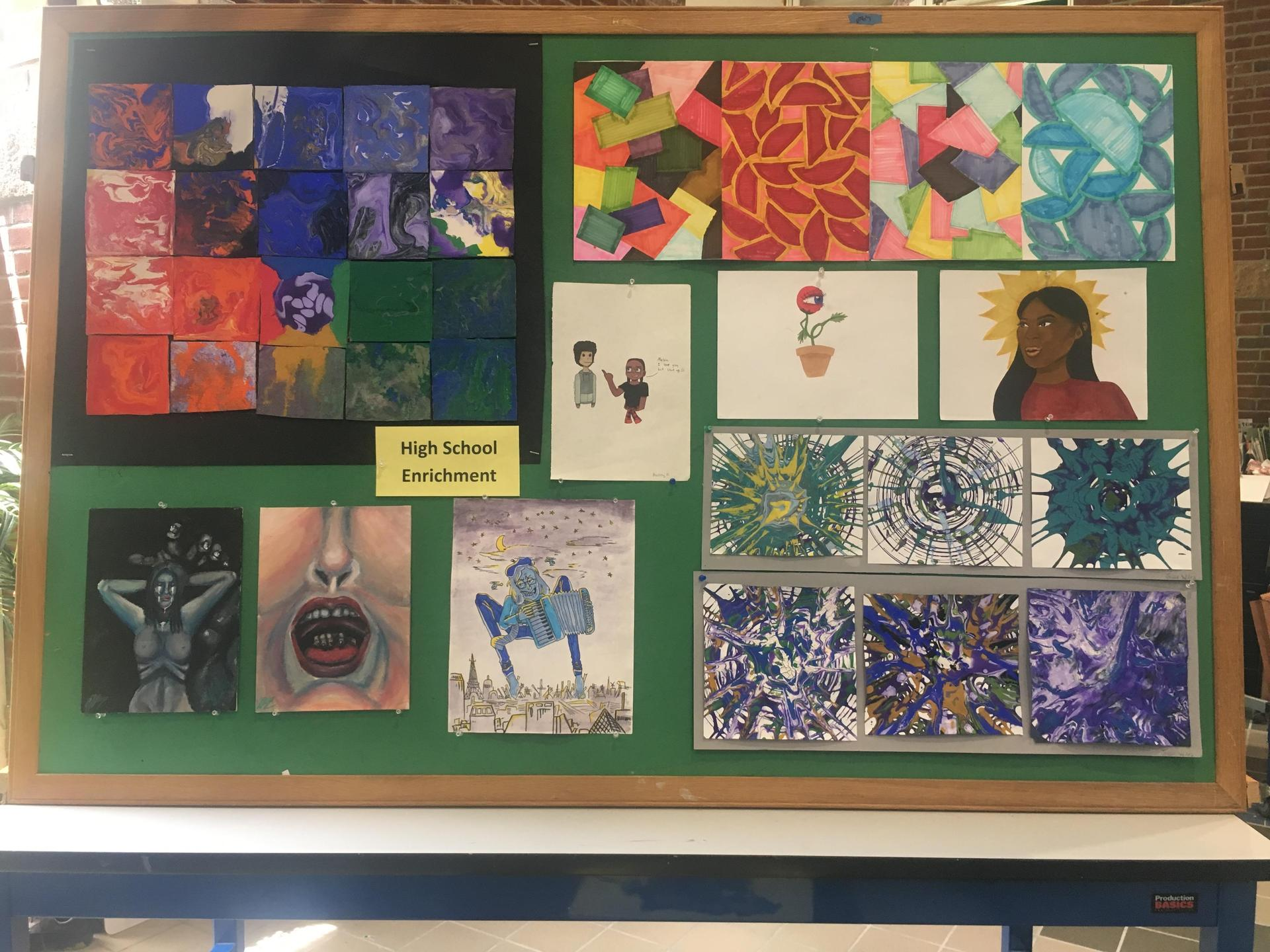 Artwork created by high schoolers