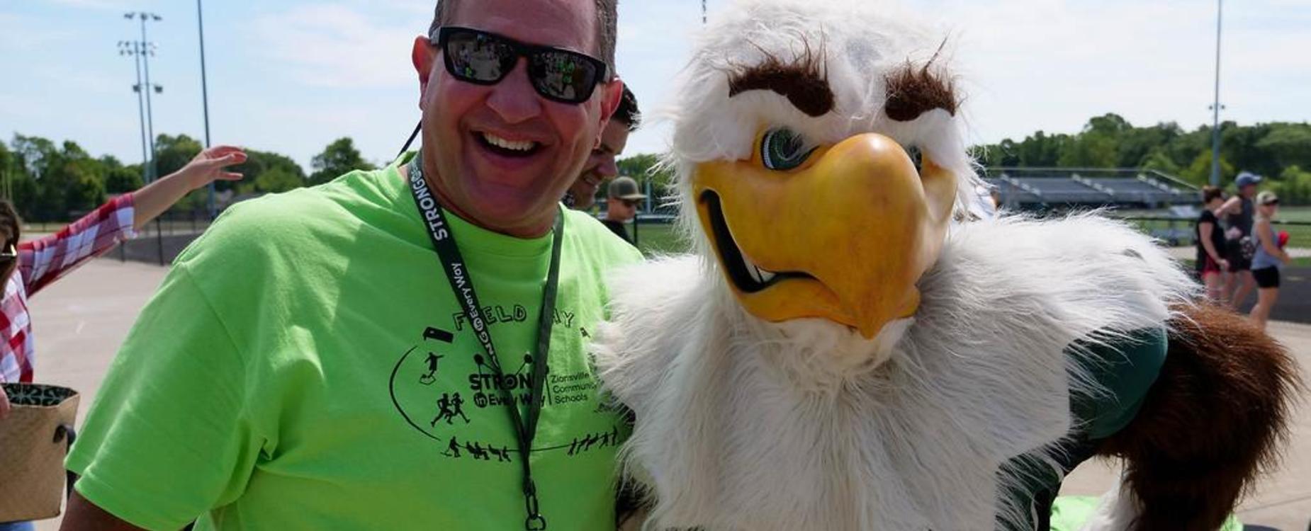 Scott and Eagle Mascot