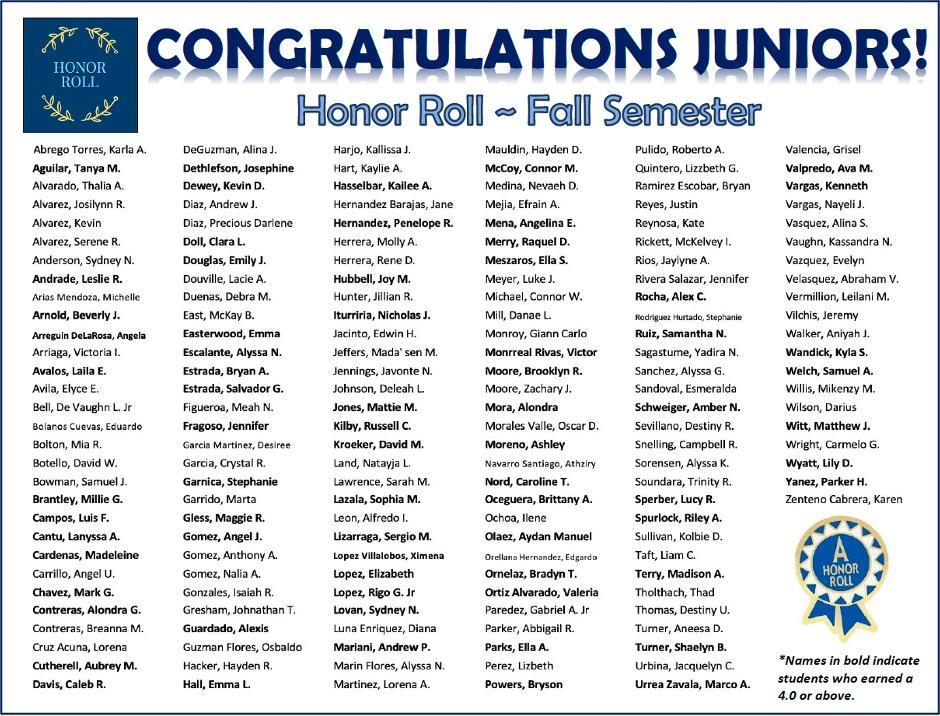 honor roll 11th