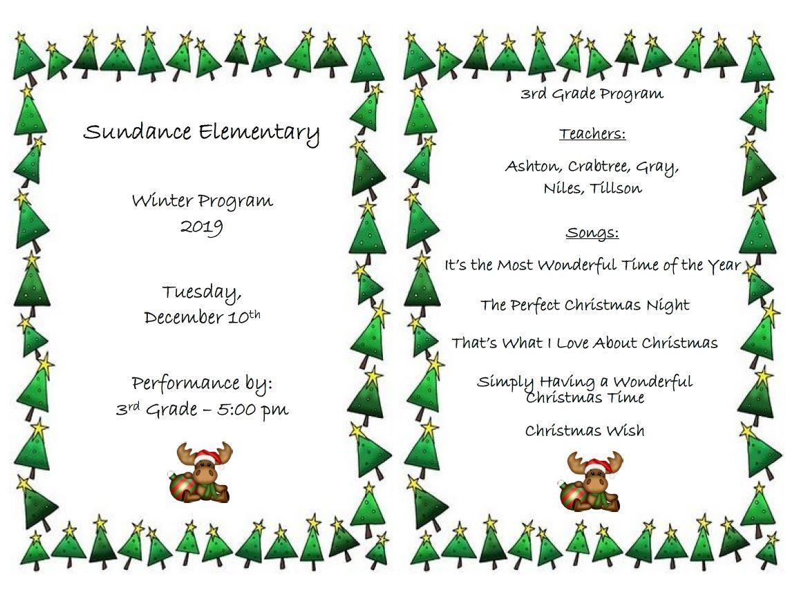 3rd Grade Winter Program
