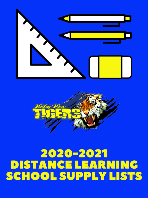 2020-2021 Distance Learning School Supply Lists Thumbnail Image