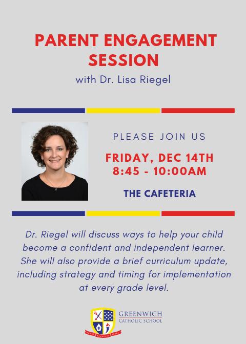 Parent Engagement Session with Dr. Lisa Riegel Thumbnail Image