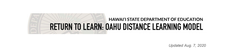 Oʻahu Distance Learning Model