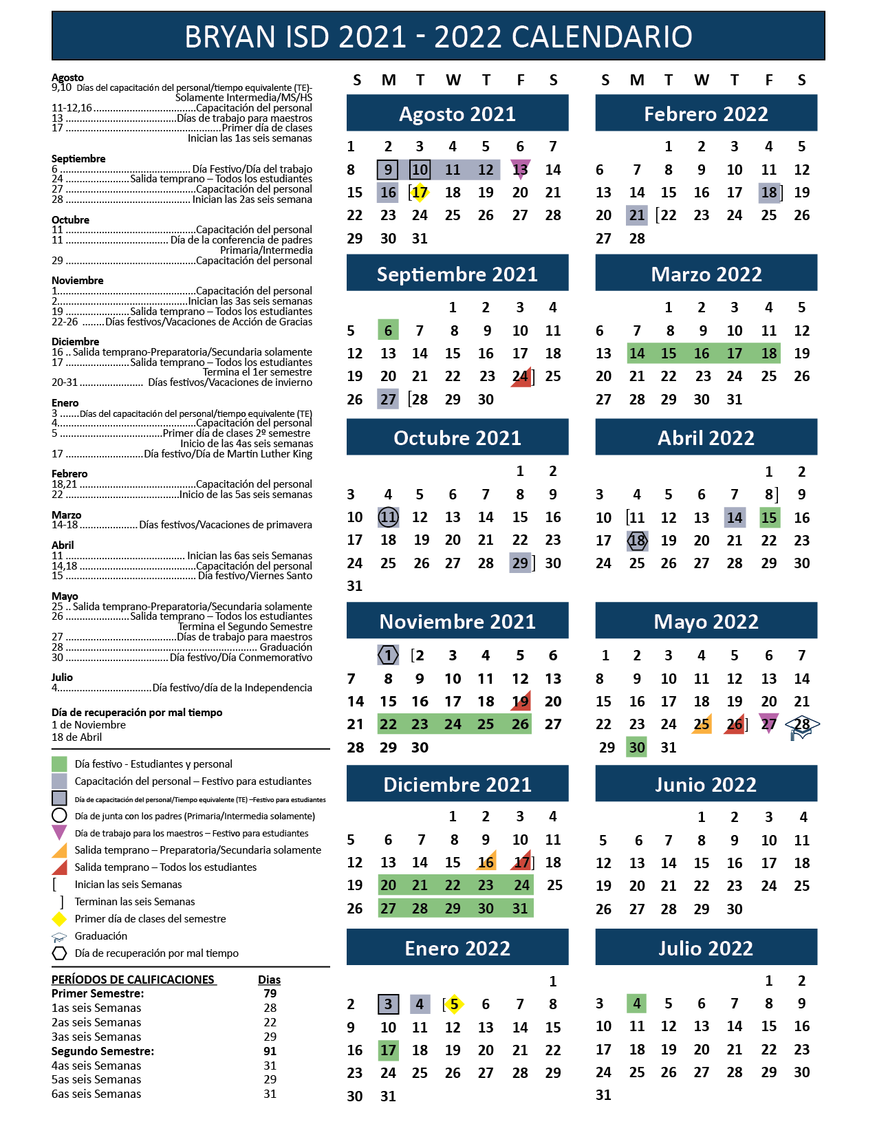 Bisd Calendar 2022 2023.Bryan Independent School District