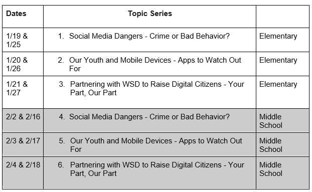 Parent Seminars: Parenting in a Digital World Featured Photo