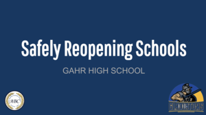 Safely Reopening Schools