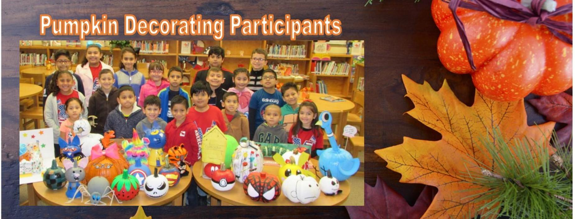 pumpkin decorating participants