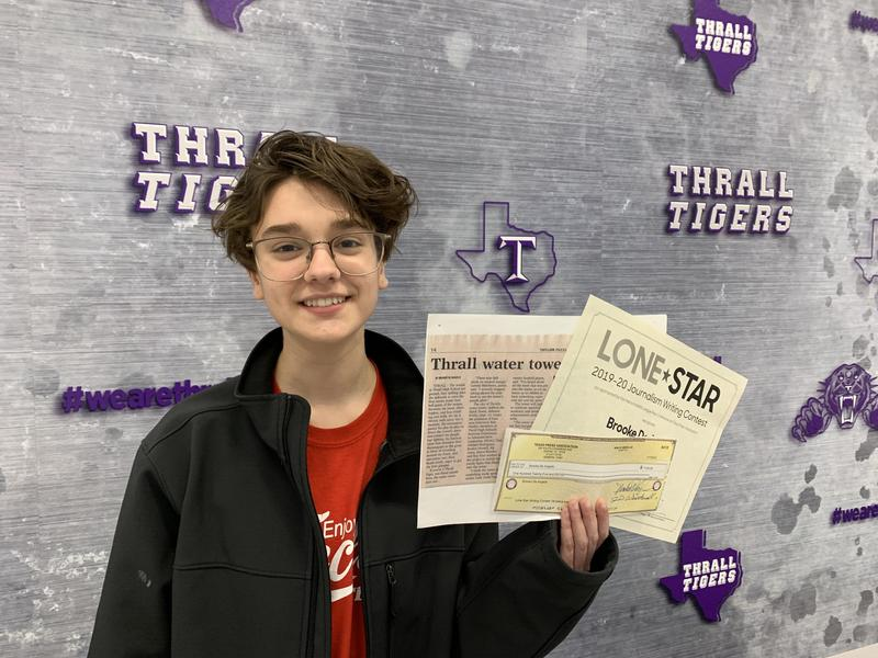 Brooke De Angelis Wins Lone Star Journalism Contest! Thumbnail Image