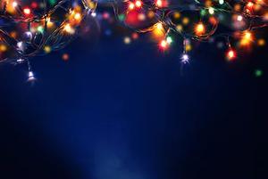 xmas lights background