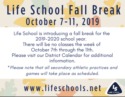 Life School Fall Break Featured Photo
