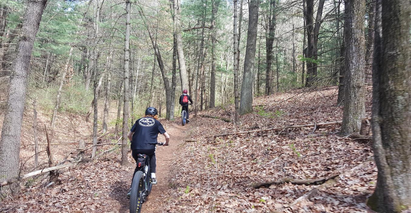 The new TK Mountain Bike Club enjoys some nearby trails.