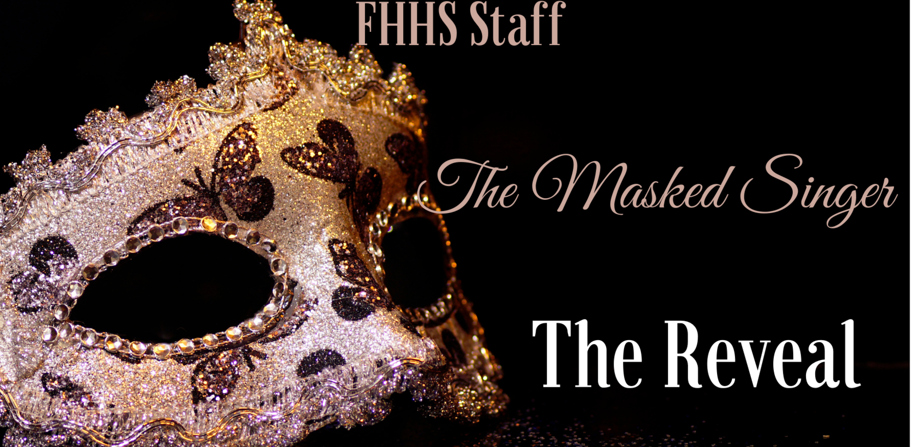 Masquerade mask. The Fort Hamilton high school Masked Singer. The Reveal