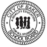 a graphic of the City of Baker School Board Logo featuring the silouettes of children
