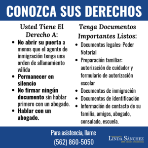 Know Your Rights - Spanish